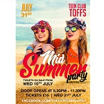 Teen Toffs Mid-Summer Teen Disco